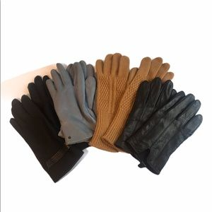 Bundle of 4 Pairs of Gloves Warm Weather Leather